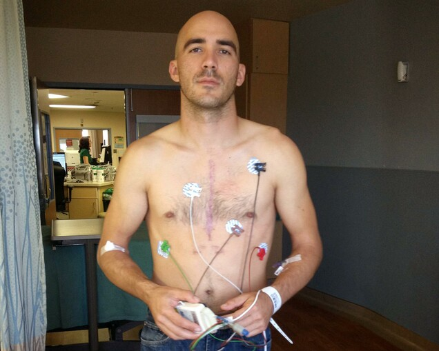 Anthony DiLemme, a high-school teacher in Redlands, Calif., faced a setback while recovering from surgery to implant a mechanical aortic valve. Doctors had to perform an emergency second surgery to replace the valve with a new one.   Photo: A. DiLemme