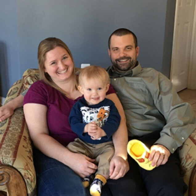 Robyn and Russ Bracebridge with their son, Alexander, who was treated for a rare heart condition at Lucile Packard Children's Hospital Stanford.